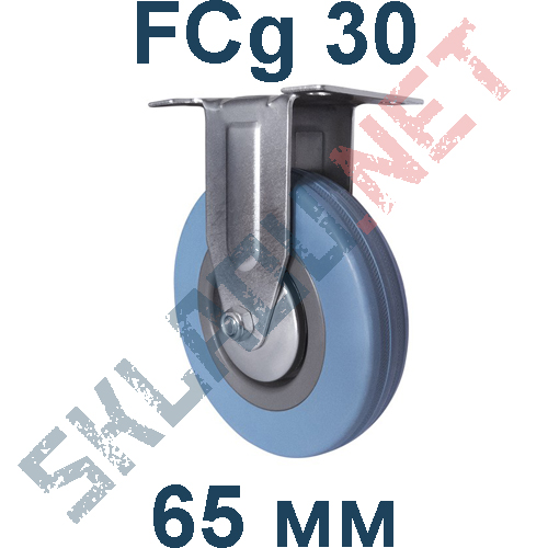 Опора колесная аппаратная FCg 30 неповоротная 65мм