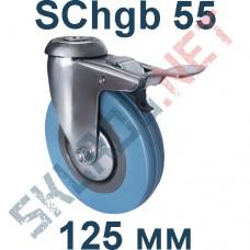 Опора SChgb 55 125 мм под болт c тормозом