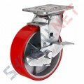 Поворотные колеса большегрузные полиуретановые с тормозом
