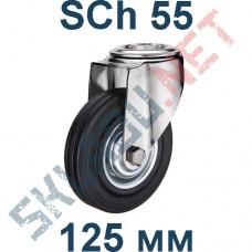 Опора колесная SCh 55 125 мм крепление под болт