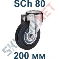 Опора колесная SCh 80 200 мм крепление под болт
