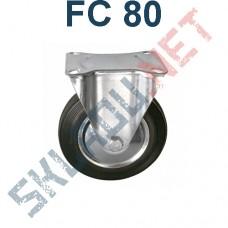 Опора колесная неповоротная FC 80 200 мм