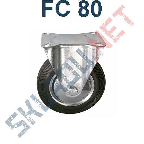 Опора колесная неповоротная FC 80