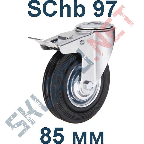 Опора колесная SChb 97 крепление под болт с тормозом