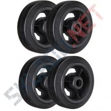 Комплект 4 чугунных колес для тележек диаметром 250 мм