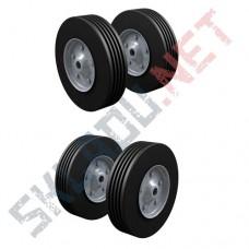 Комплект 4 литых колес для тележек диаметром 250 мм