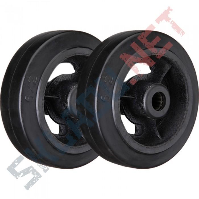Комплект чугунных колес для двухколесных тележек диаметром 250 мм