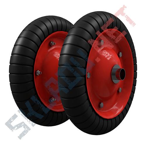 Комплект пневматических колес диаметром 350 мм для двухколесных тележек