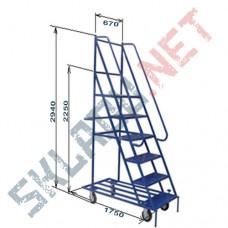Лестница Л 9 пять ступеней и высота 2940 мм