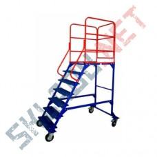 Лестница передвижная ЛР-6.1 шесть ступеней и один марш
