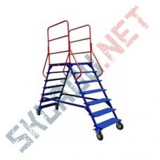 Лестница передвижная ЛР-6.2 шесть ступеней и два марша