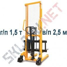 Штабелер ручной с раздвижными вилами 320-570 мм MS г/п 1.5т в/п 2.5м
