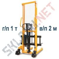 Штабелер ручной с раздвижными вилами 320-570 мм MS г/п 1т в/п 2м