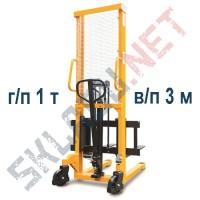Штабелер ручной с раздвижными вилами 320-570 мм MS г/п 1т в/п 3м