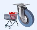 Колесные опоры для покупательских тележек и торгового оборудования